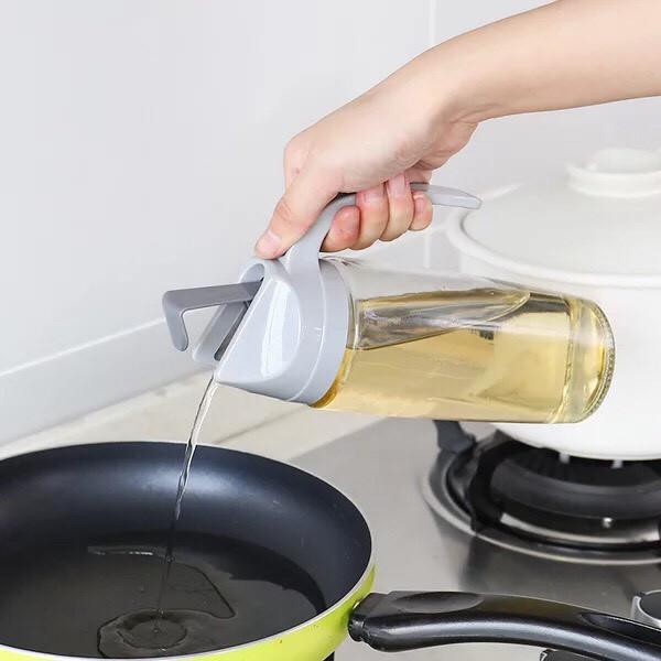 Bình rót dầu ăn, rót nước mắm tự động mở nắp ko rớt ra ngoài