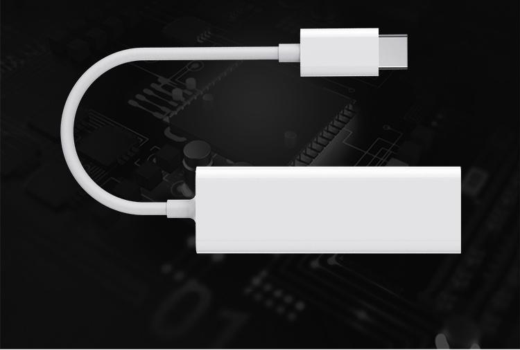 Bộ Chuyển Đổi Đầu USB Type C ra dây mạng RJ45 - Màu Ngẫu Nhiên