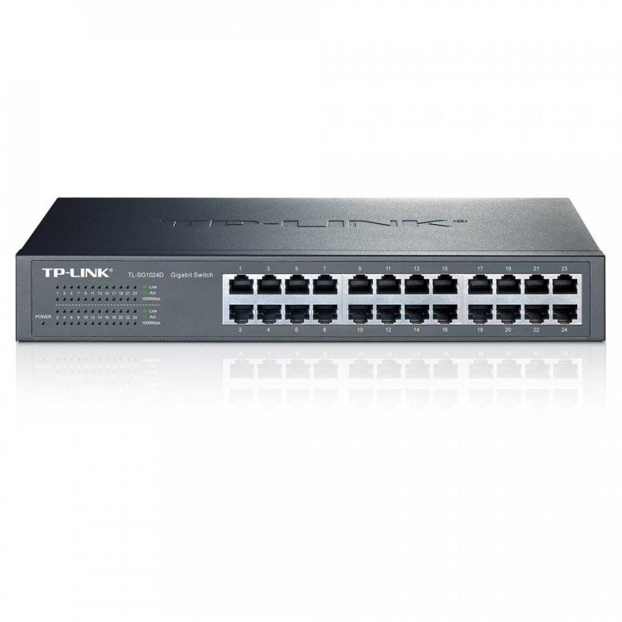 Bộ chia mạng TP-Link - TL-SG1024D - Switch Gigabit 24 cổng Gắn tủ/Để bàn - Hàng Chính Hãng