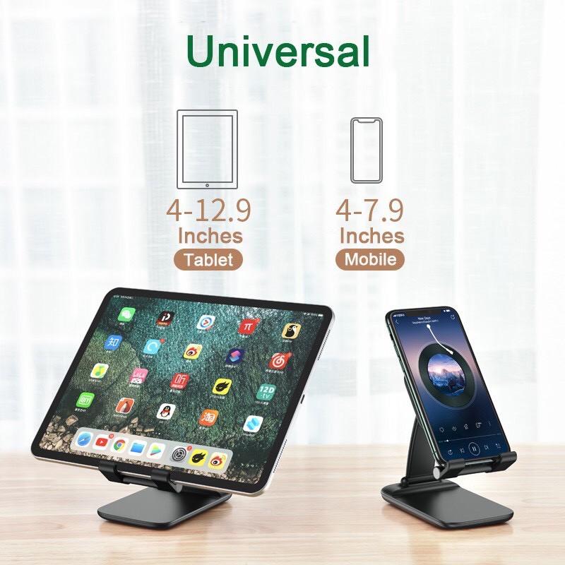 Giá đỡ Ipad, điện thoại, máy tính bảng siêu bền bỉ, khung cong chống rung lắc