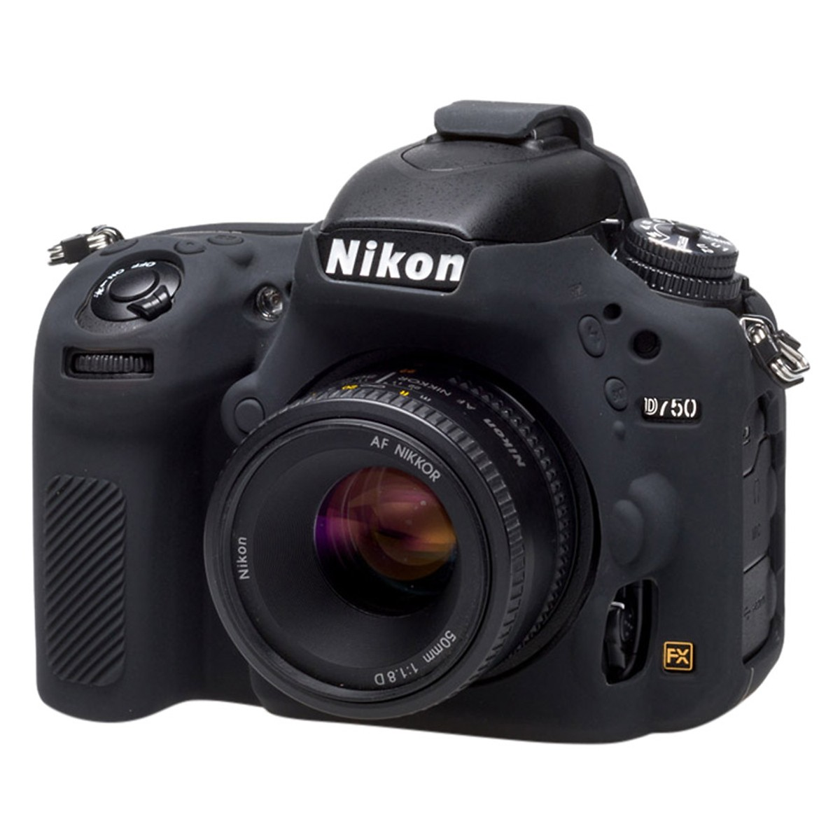 Bao Silicon Bảo Vệ Máy Ảnh  Cover Cho Nikon D750 Đen