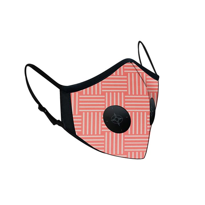 Khẩu trang thời trang cao cấp Soteria Pinkline ST015 - Khẩu trang vải than hoạt tính [size S,M] Van đen