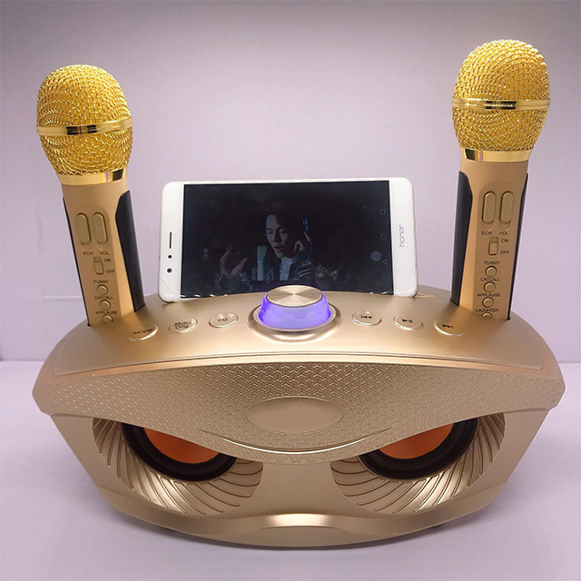 Loa Bluetooth Di Động Không Dây Kèm 2 Micro Hát Karaoke SD-306 Bass Trầm Cực Chuẩn Công Suất 20W
