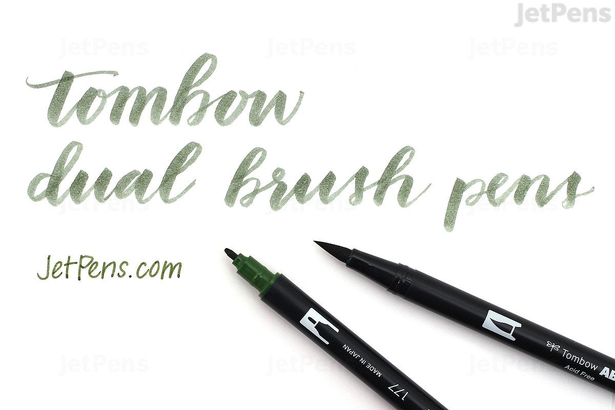 Bút lông cọ hai đầu Tombow ABT Dual Brush Pen - Brush/ Bullet - Aqua (401)