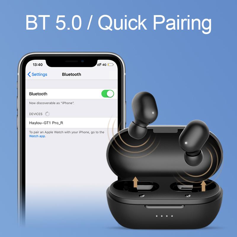 Tai Nghe Bluetooth True Wireless Haylou GT1 Pro ( Phiên Bản Nâng Cấp Haylou GT1) - Hàng Chính Hãng