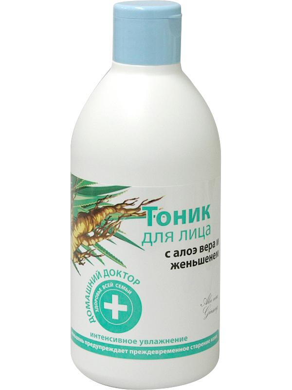 Nước cân bằng da Domashnij Doctor cho da lão hóa chiết xuất Lô hội và Nhân sâm 300ml
