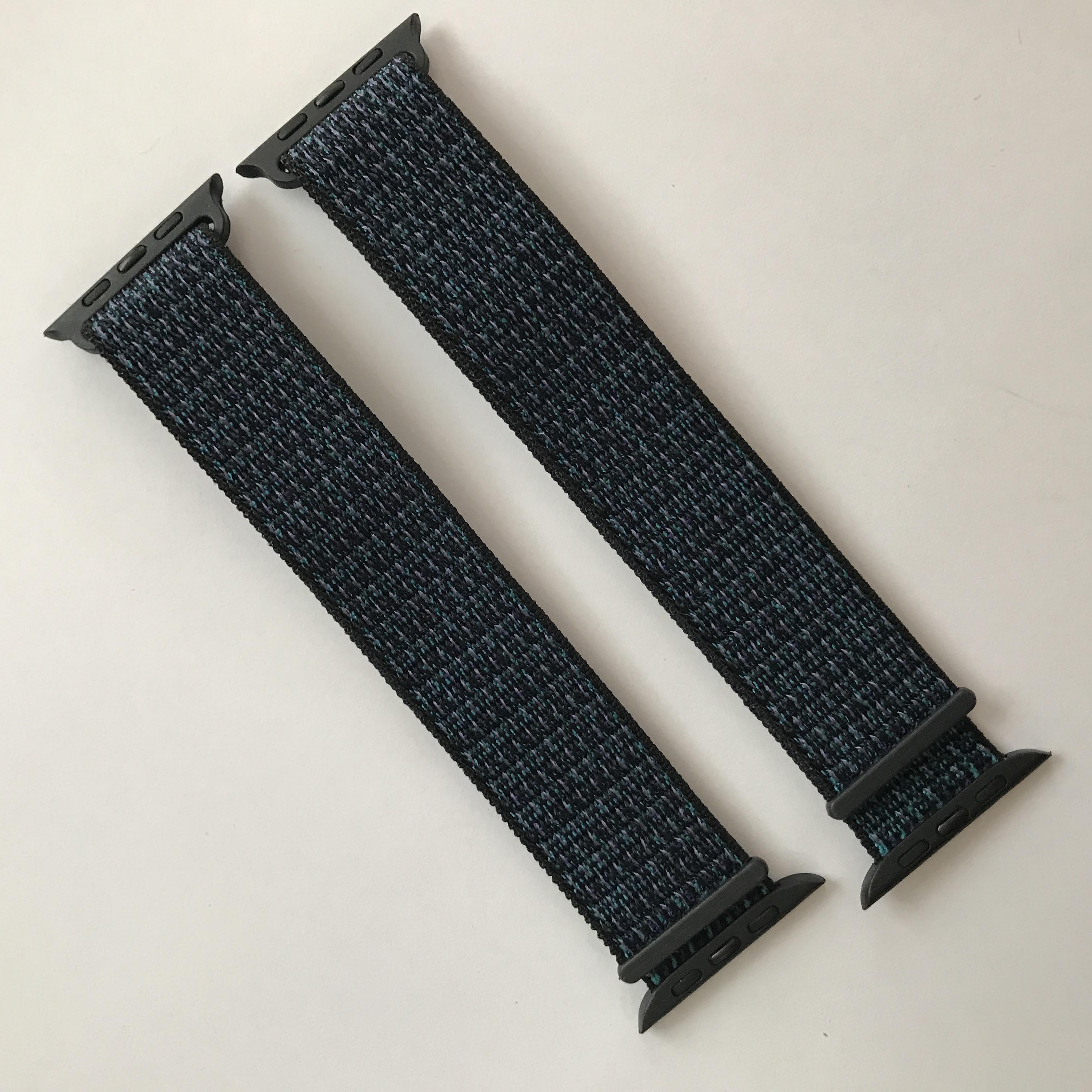 Dây đeo Sport loop cho Apple Watch màu xanh đen series 1.2.3.4