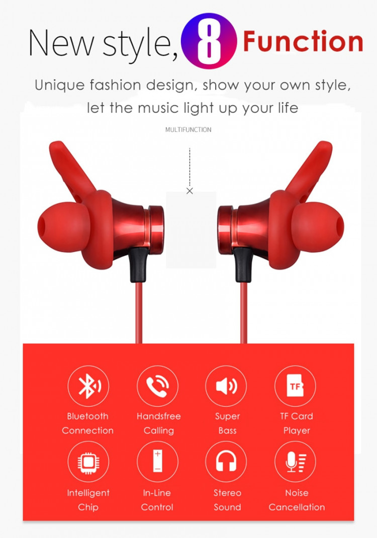 Aimitek XT-22 Magnetic Bluetooth Earbuds-7