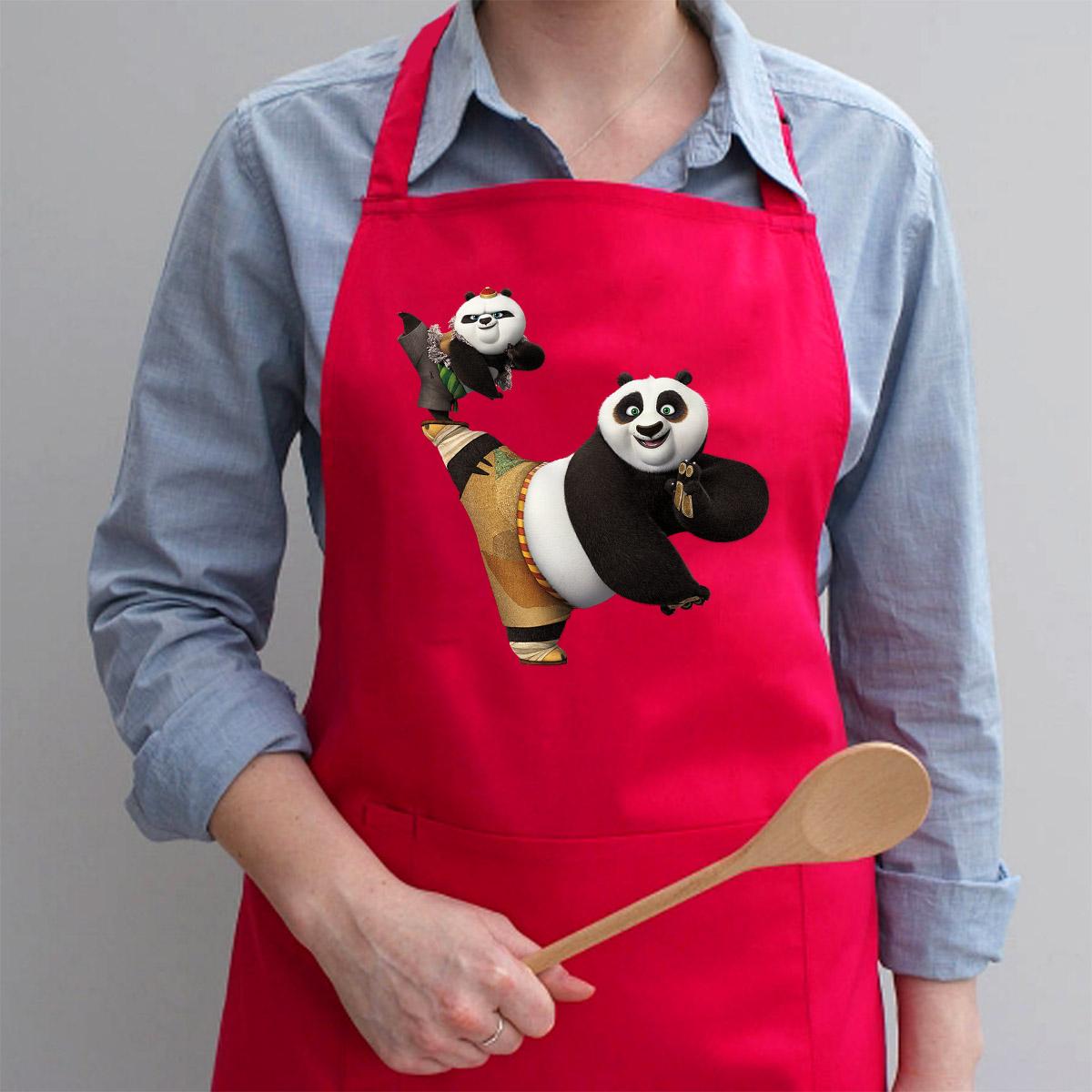 Tạp Dề Làm Bếp In Hình Gấu Trúc Panda Nhảy Múa - Mẫu004