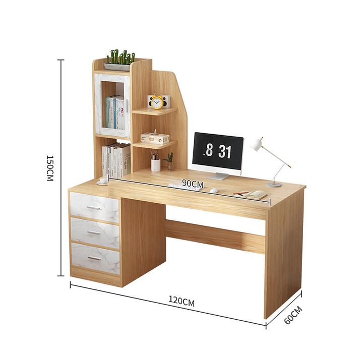 Bàn làm việc DNZ0049 120cm kèm tủ và giá sách (kt 150x120x60x90cm)