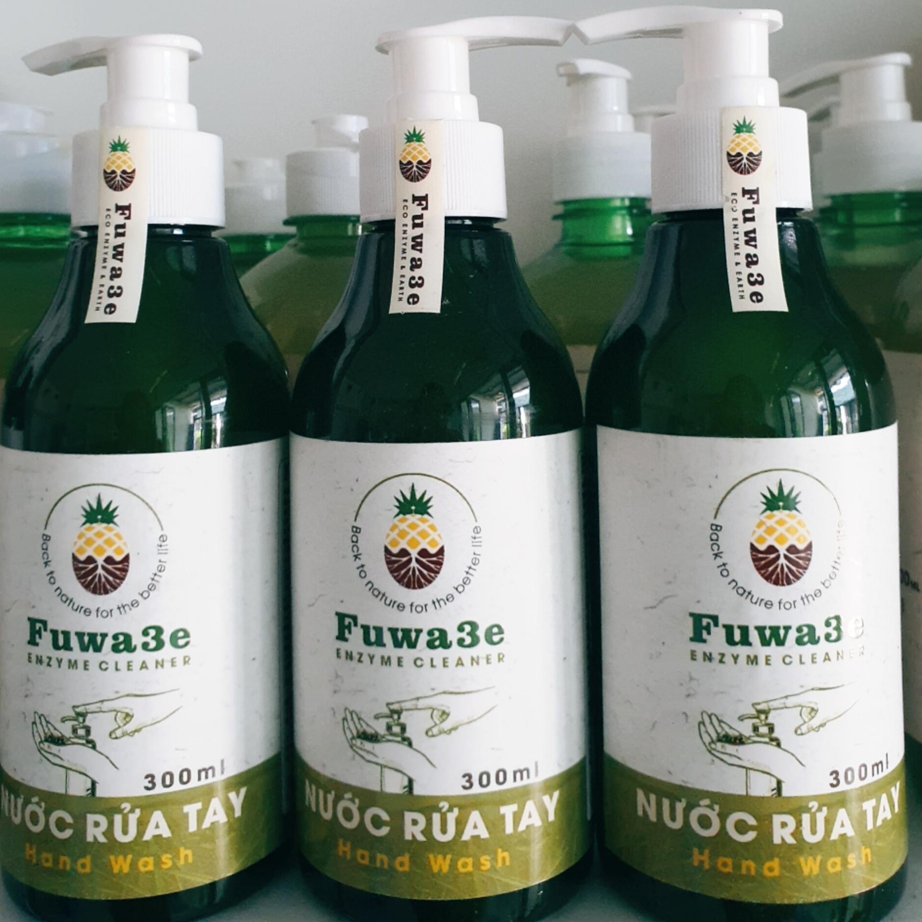 Nước rửa tay sinh học enzym từ vỏ trái cây - 300ml - An toàn cho da tay và môi trường (hương quýt)