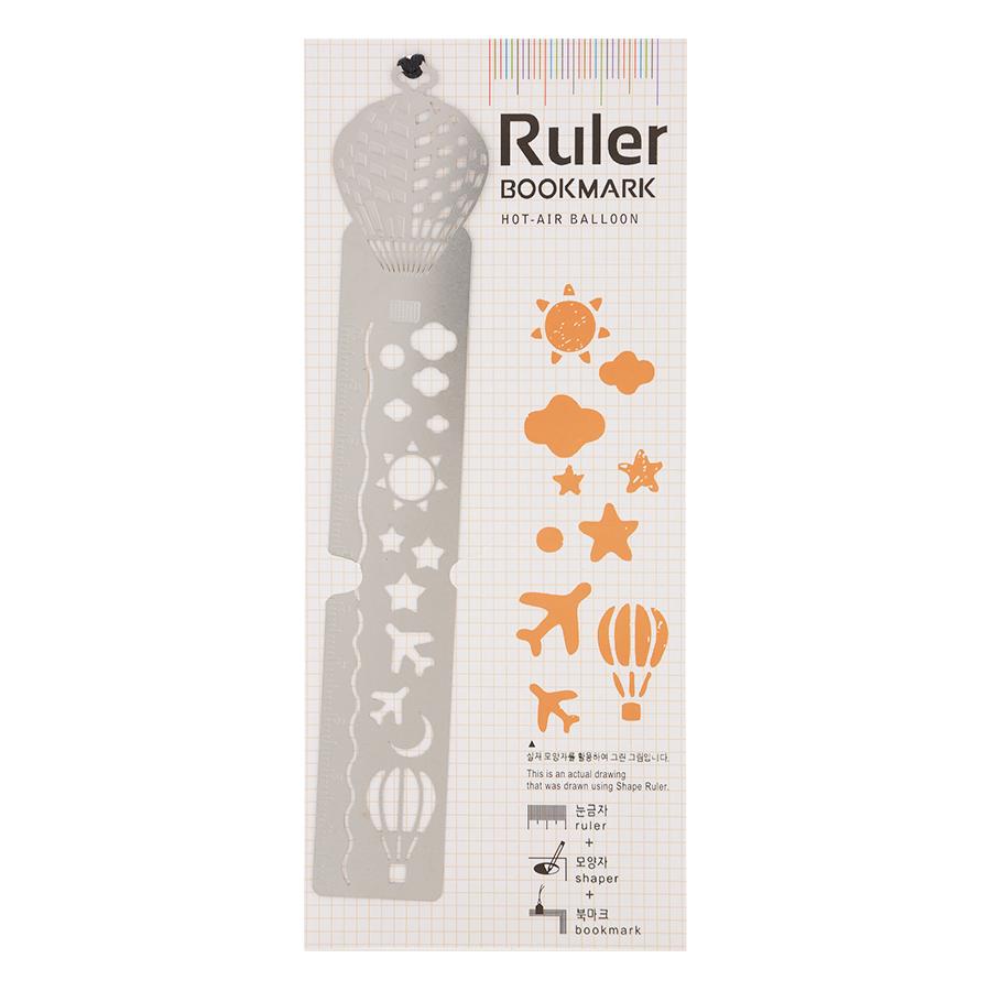 Thước Vẽ Trang Trí Ruler Bookmark - Hot - Air Balloon