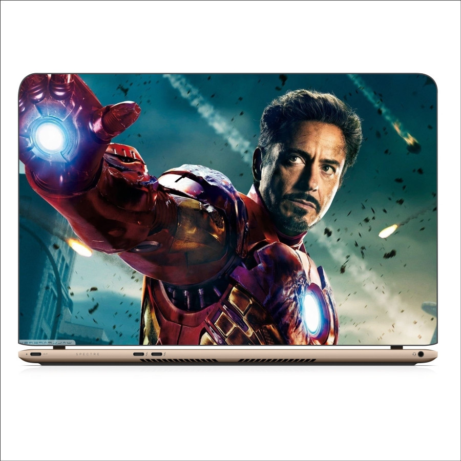 Miếng Dán Skin In Decal Dành Cho Laptop - Iron man 4 - 14 inch - Mặt trước  touchpad