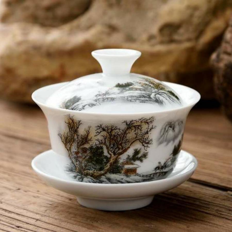 Chén trà có nắp Kiểu cổ Trung Quốc