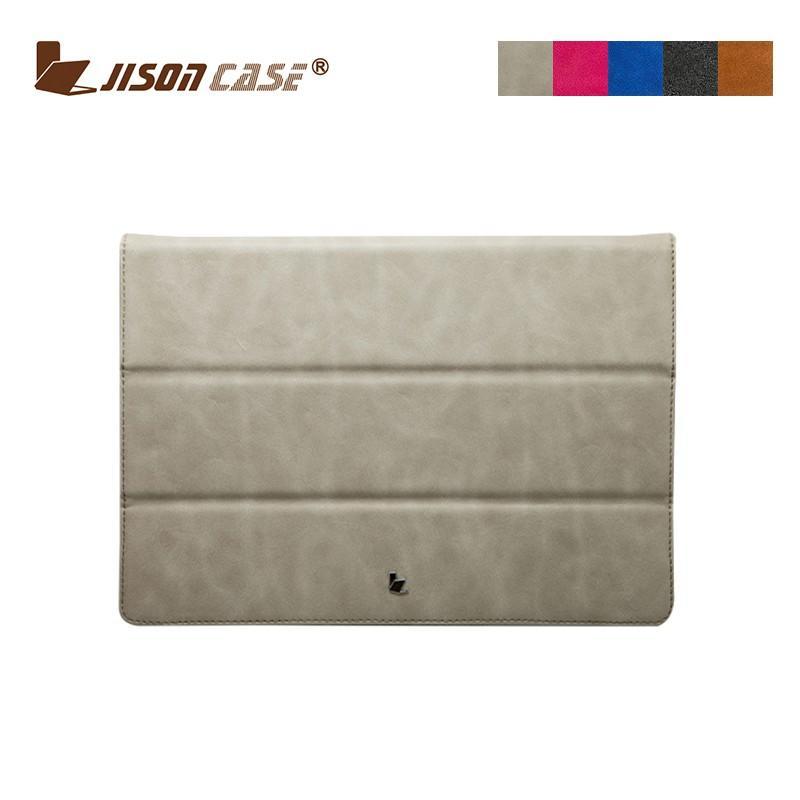 Bao da cao cấp Jisoncase cho Macbook (dạng quyển sổ) màu xám