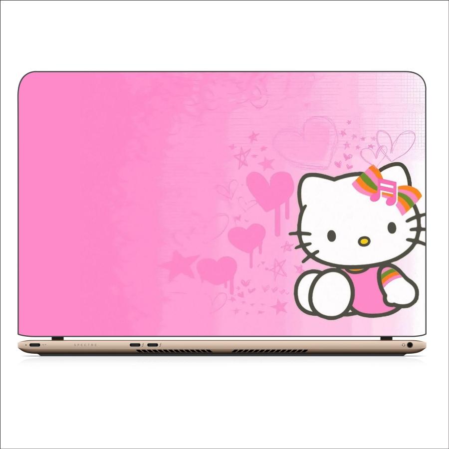 Miếng Dán Skin In Decal Dành Cho Laptop - Kitty 3 - Mã: 021118