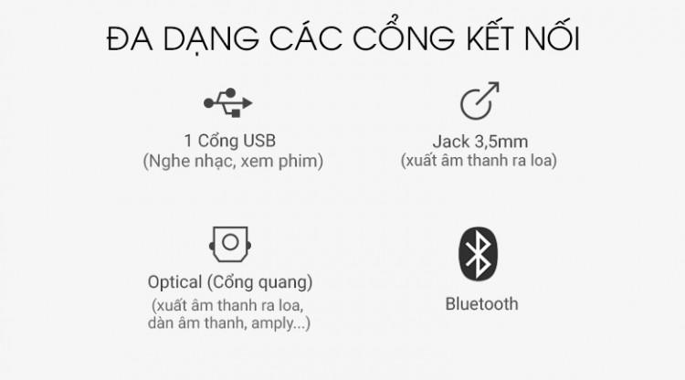 Loa thanh soundbar Samsung 2.1 HW-R450 200W - Cổng kết nối