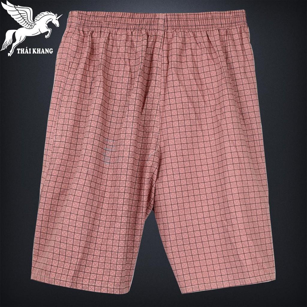 Quần Đùi Nam Vải Cotton Kẻ Karo Mềm Size 50-80kg