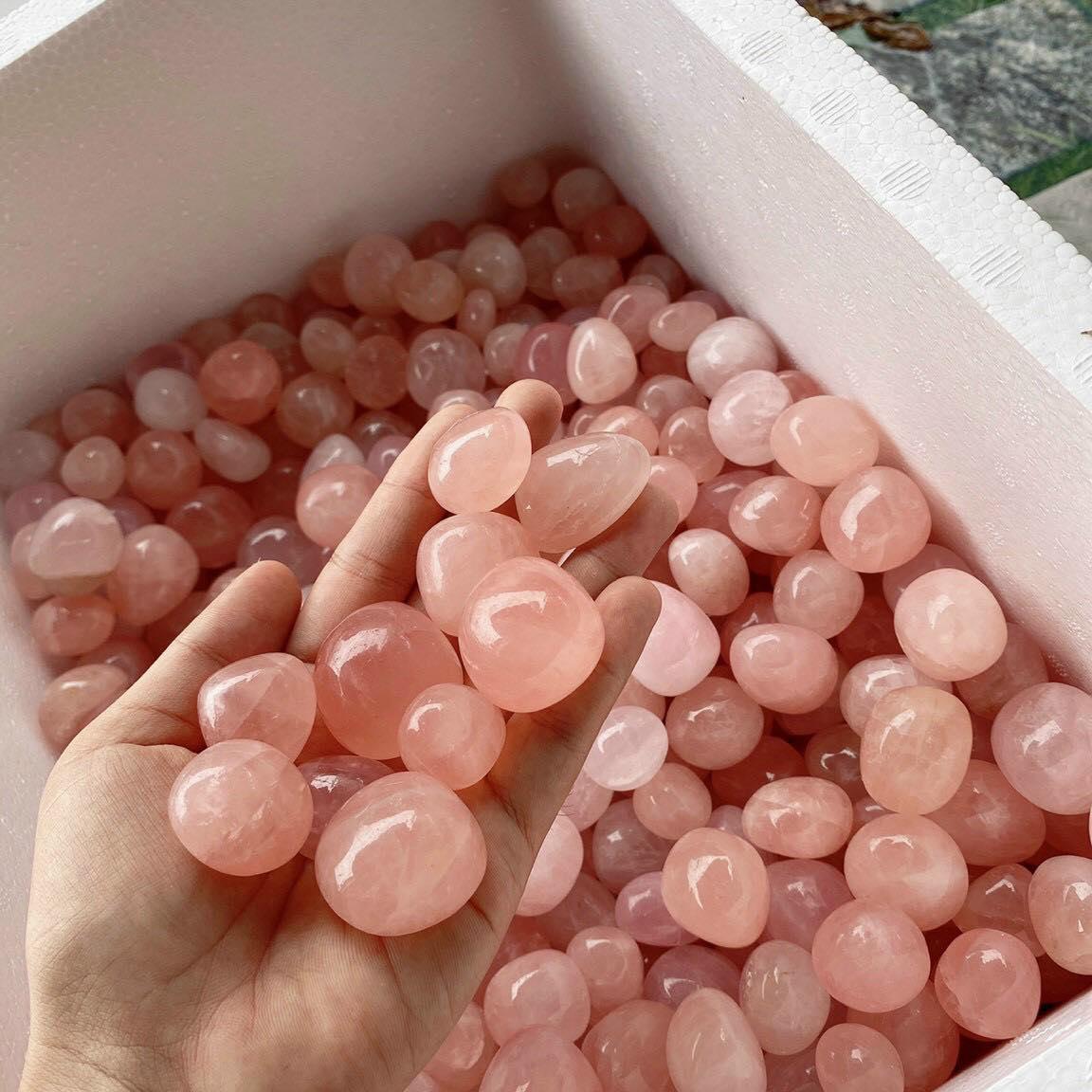 Đá thạch anh các màu dạng hạt sỏi