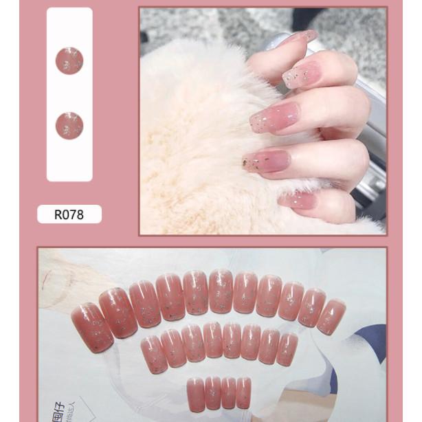 Bộ 24 móng tay giả nail thơi trang như hình (R-078)
