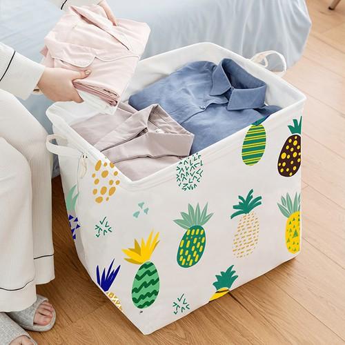 úi vải đựng chăn màn quần áo cỡ lớn 100L họa tiết giao ngẫu nhiên (TV100L)