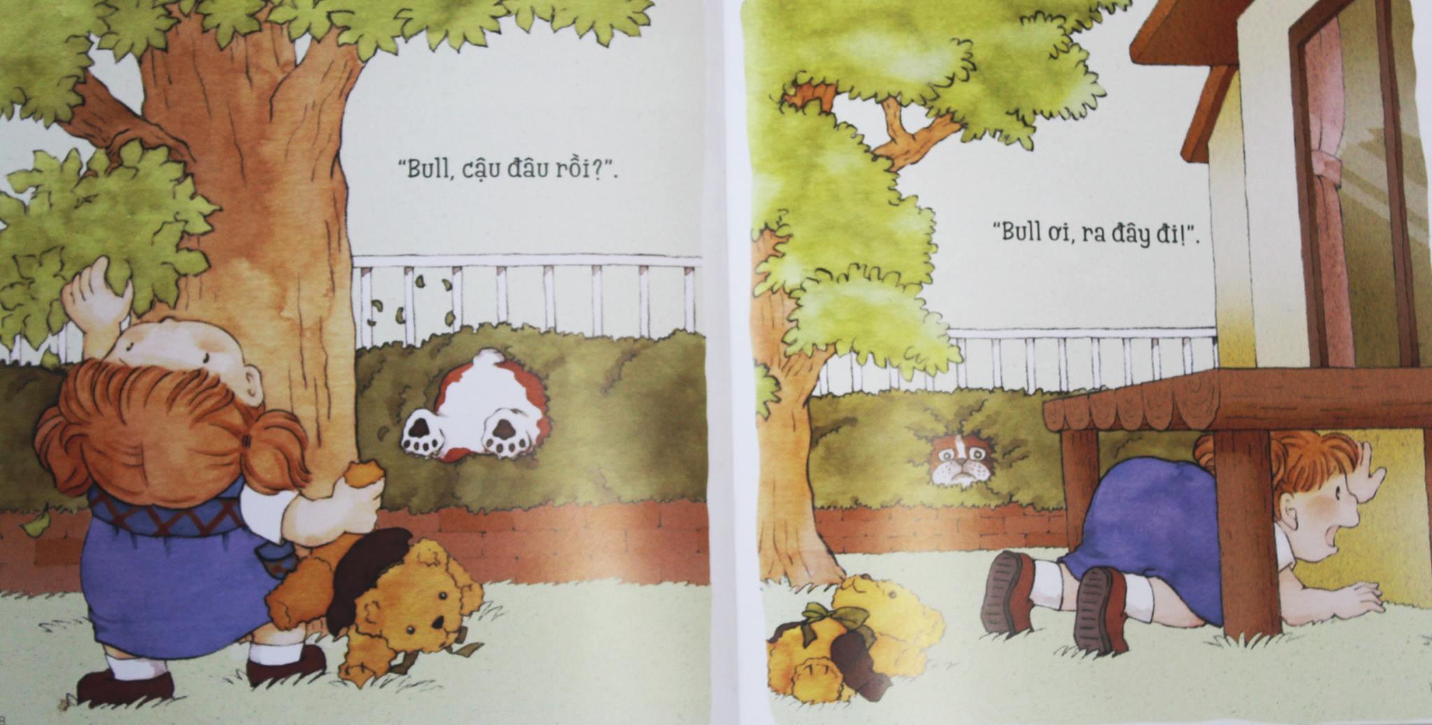 Combo 2 cuốn Ehon Nhật Bản: Bull chơi trốn tìm, Bull và Kana dành cho bé 3-6 tuổi