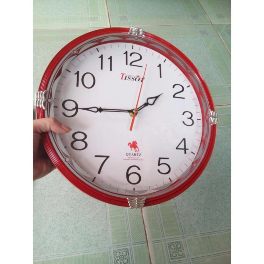 Đồng Hồ Treo Tường Tròn S65T 30cm +Tặng 01 máy đồng hồ treo tường