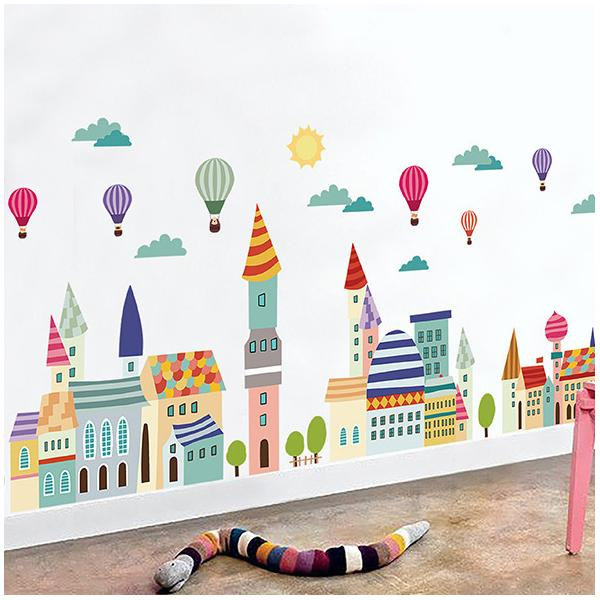 Decal dán tường thành phố xinh đẹp ZOOYOO AM9176