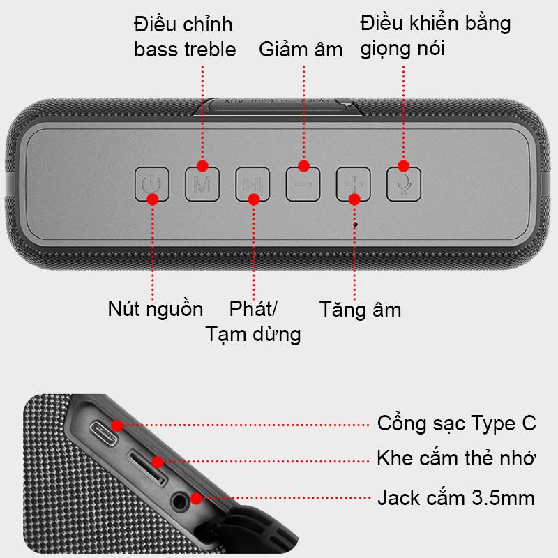 Loa Nghe Nhạc Công Suất 60W Dung Lượng Pin 6600mAh - Hàng Chính Hãng PKCB