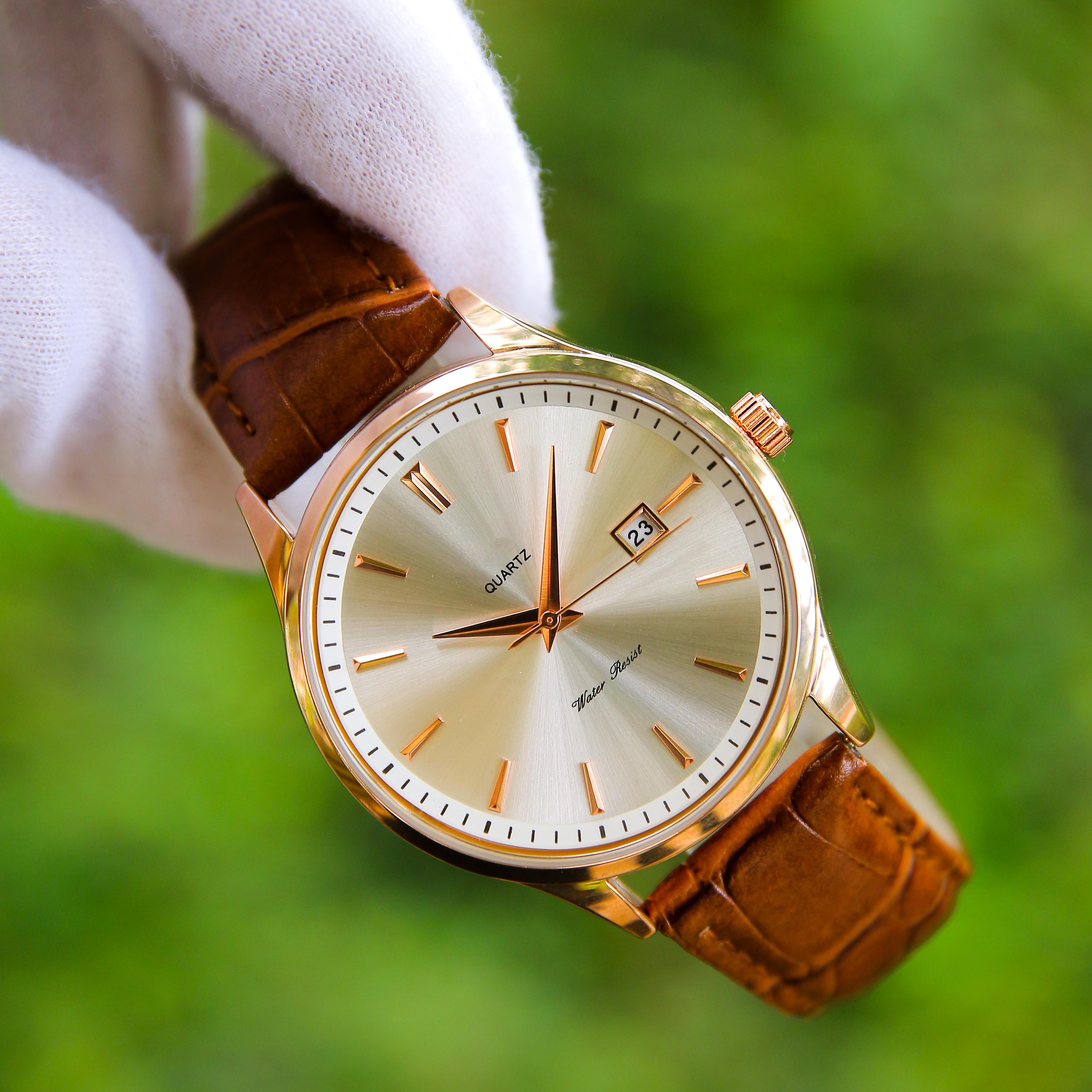 Đồng hồ nam dây da cao cấp chống nước – Thiết kế sang trọng – Lịch lãm – Phù hợp khi đi làm, đi chơi - ORDN0005W