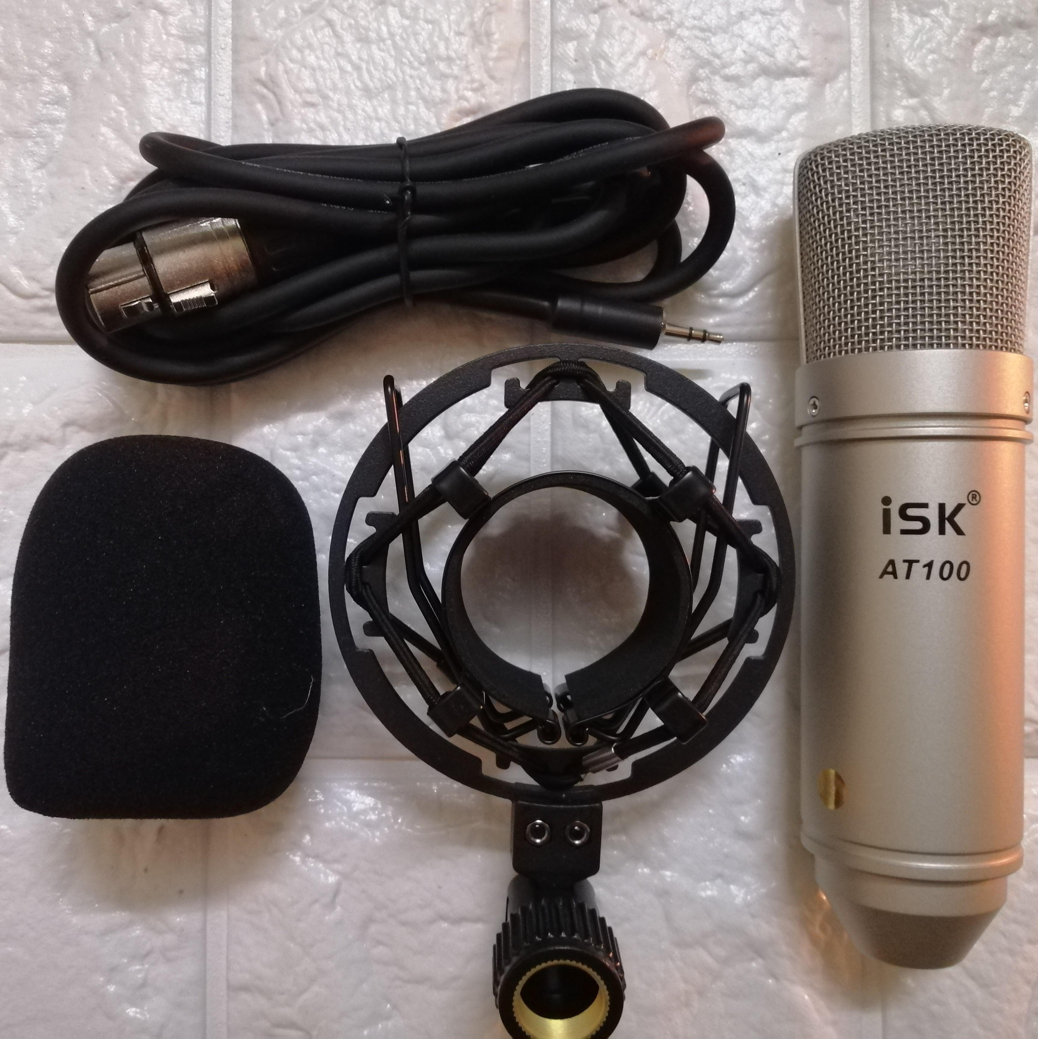 Bộ sản phẩm live stream thu âm  Sound V10 Bluetooth và micro ISK AT100 Hàng Nhập khẩu