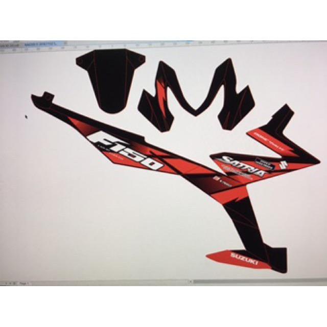 Tem rời dành cho xe raider fi 2018 đỏ đen chữ satria f 150 tặng tem dán xi nhan (bộ)
