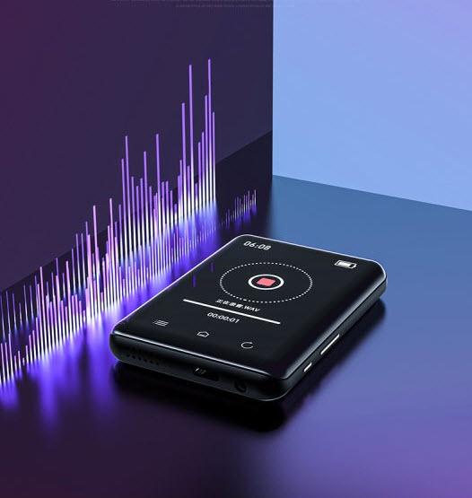 Máy Nghe Nhạc MP3 Ruizu D-66 Bộ Nhớ 16GB Màn Hình Cảm Ứng 2.8 inch Bluetooth 5.0 - Hàng Chính Hãng