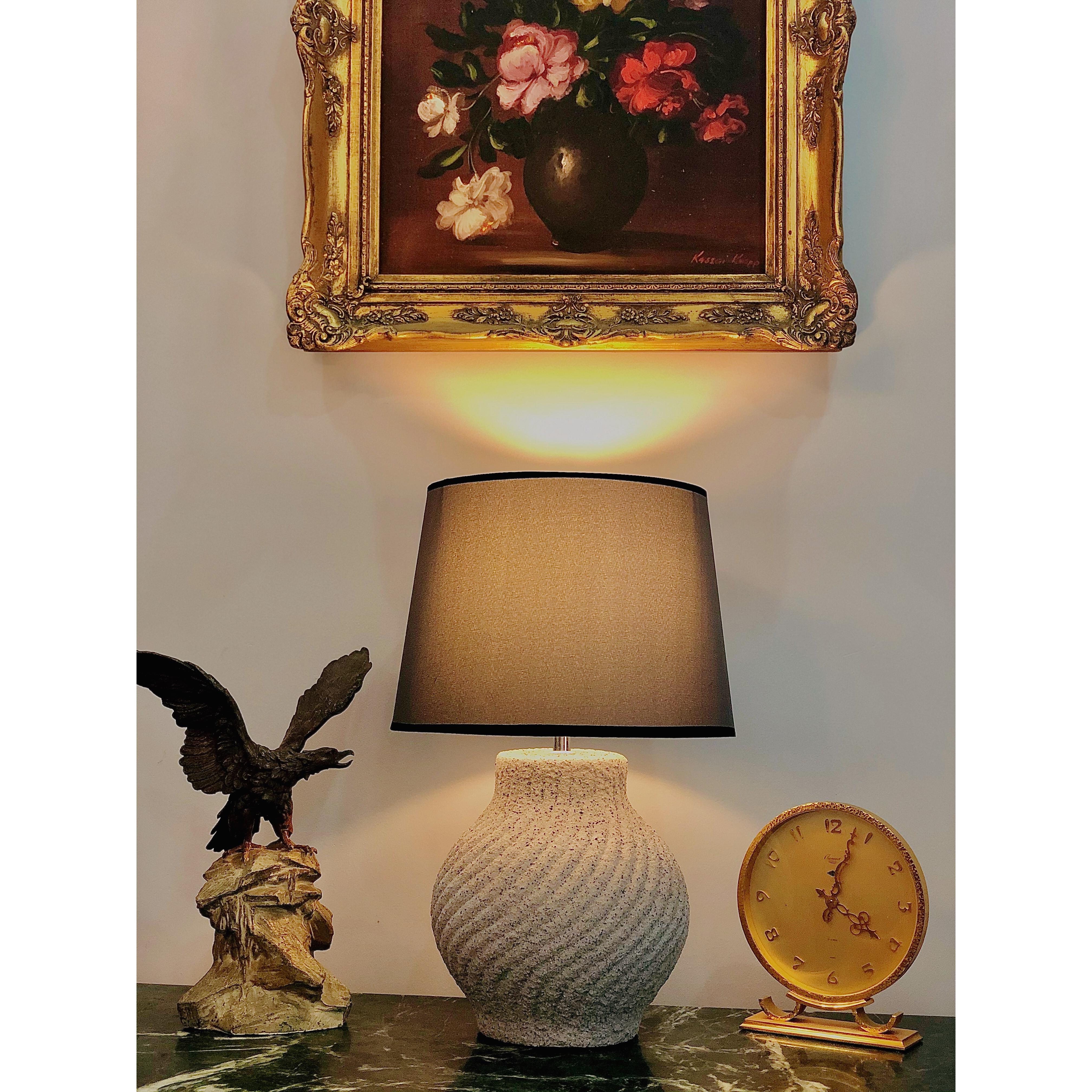 đèn bàn thân gốm sứ nghệ thuật DY15372