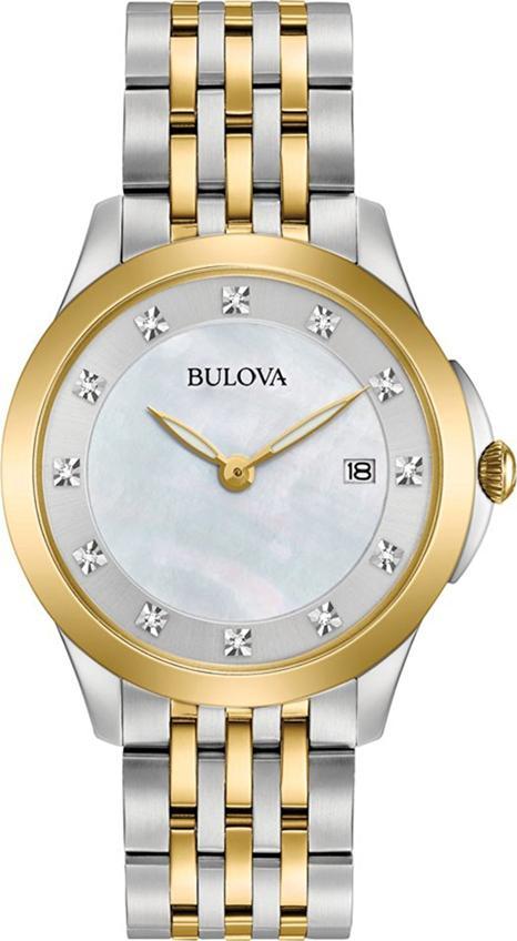 Đồng Hồ Nữ Dây Kim Loại BULOVA 98S161 (36mm) - Bạc Viền Vàng