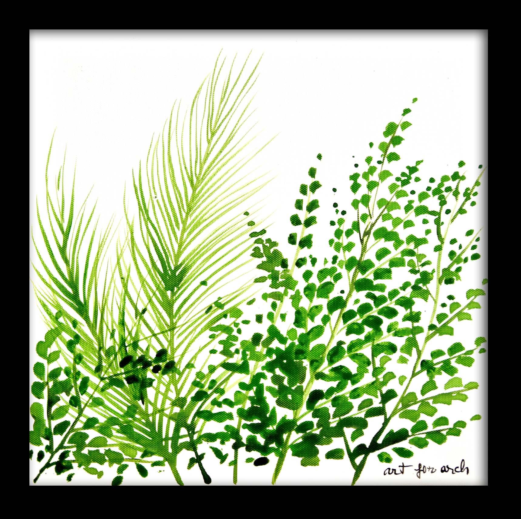 Tranh sơn dầu hoa lá 01