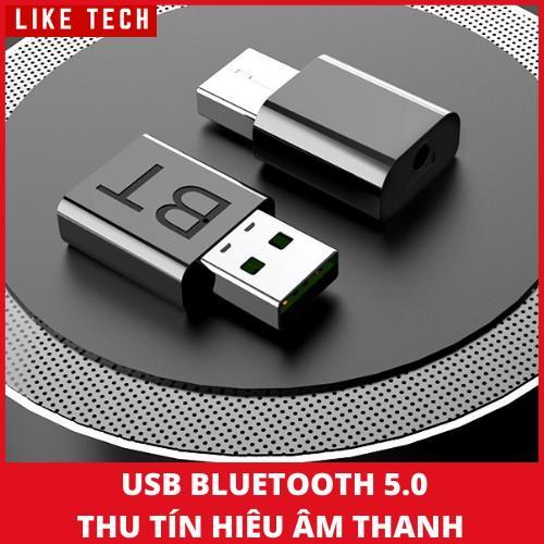 USB Bluetooth 5.0 thu tín hiệu âm thanh cho xe hơi - Bộ thu phát tín hiệu Bluetooth 5.0 không dây cho TV đa năng