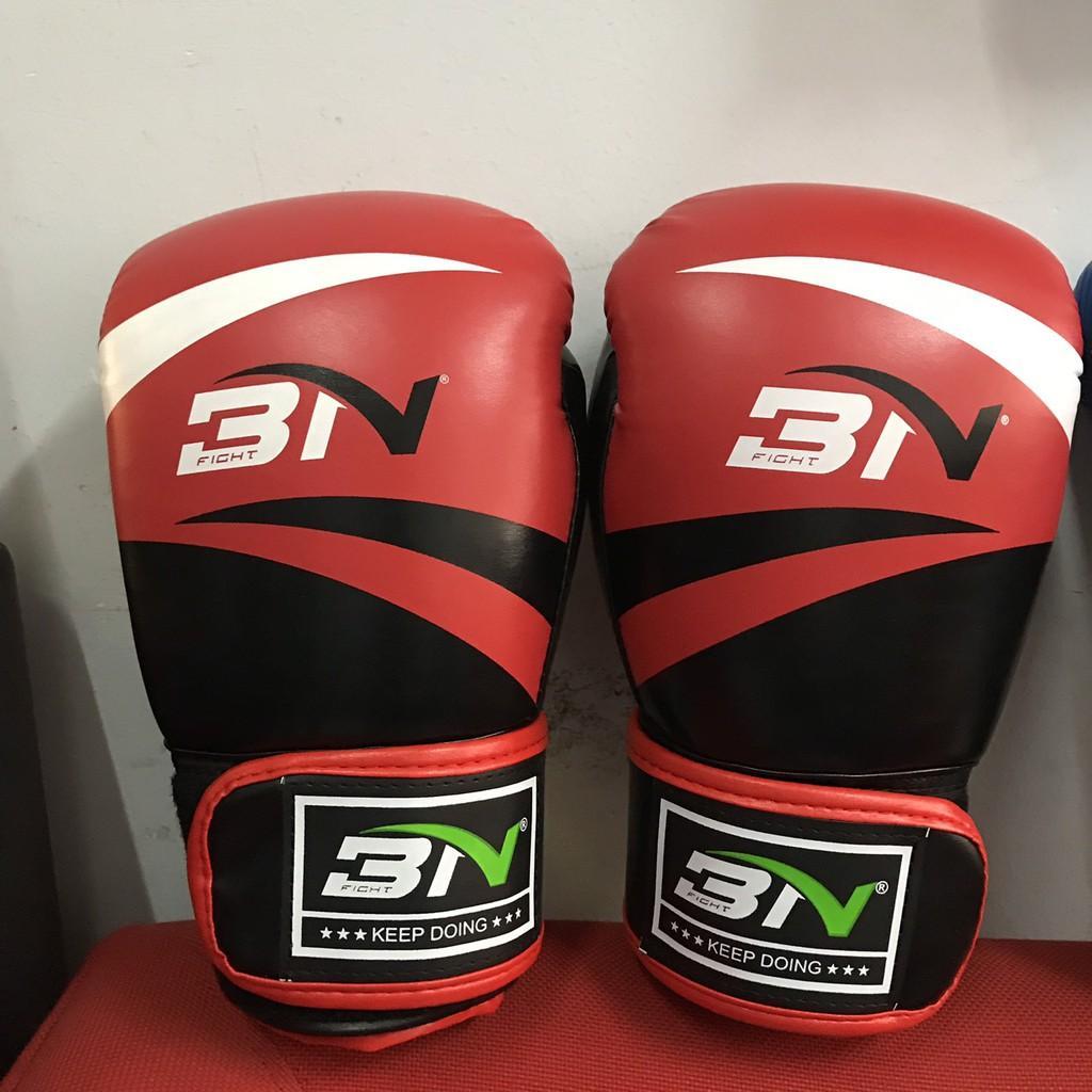 Găng Boxing BN - VN cao cấp mẩu cổ điển tặng 1 cặp băng quấn 4m