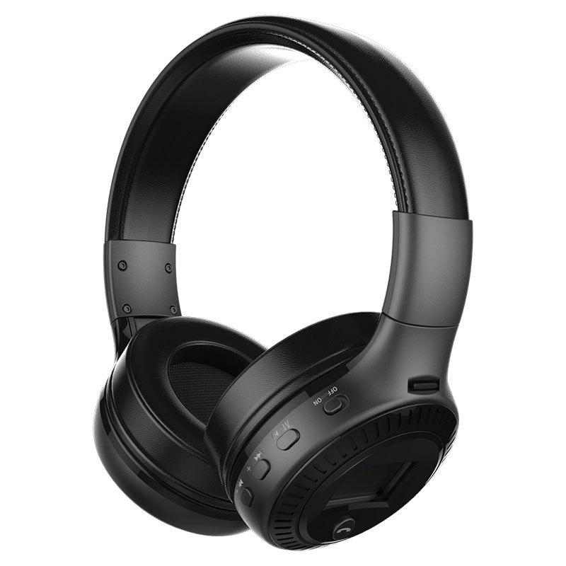 Tai nghe Bluetooth không dây ZEALOT B19 Headphone Bluetooth stereo Bass có micrô FM Radio, màn hình LCD, dùng được  Thẻ TF