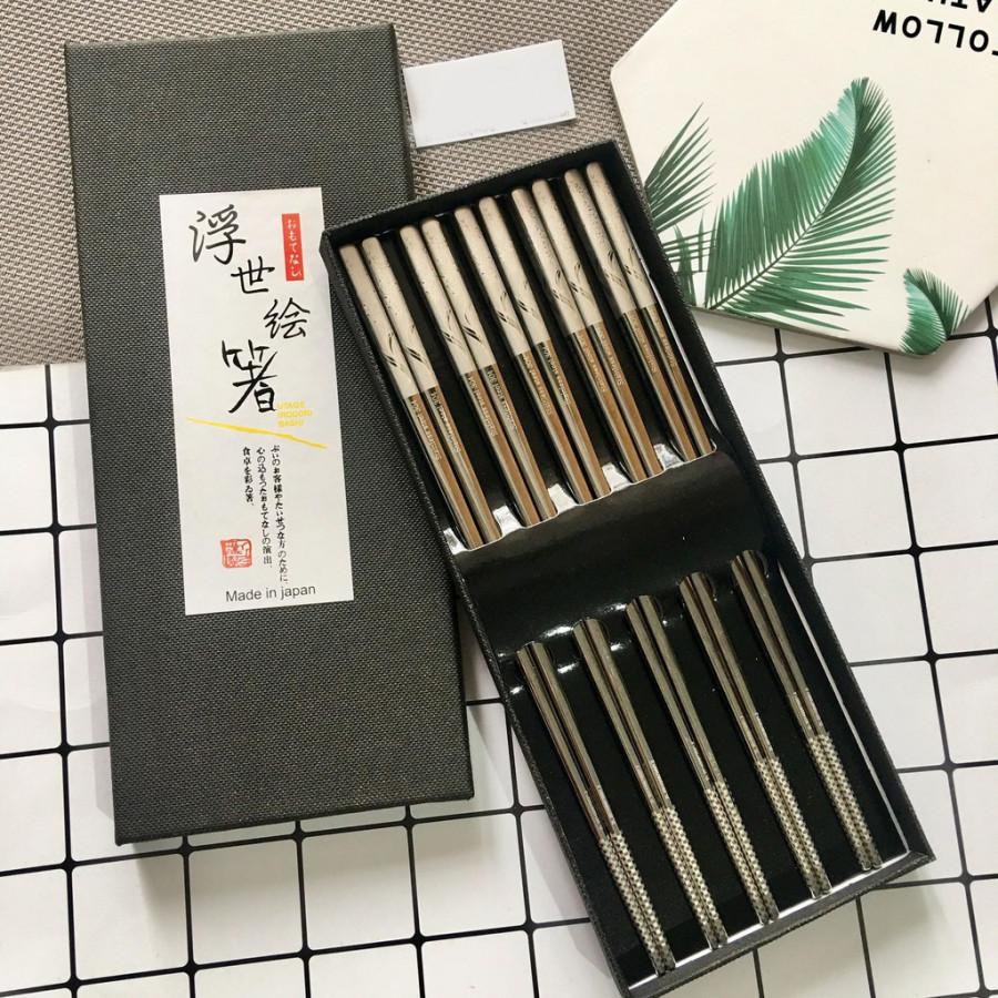 Hộp đũa Nhật sang trọng, tinh tế, chống trơn trượt - Hàng nội địa Nhật