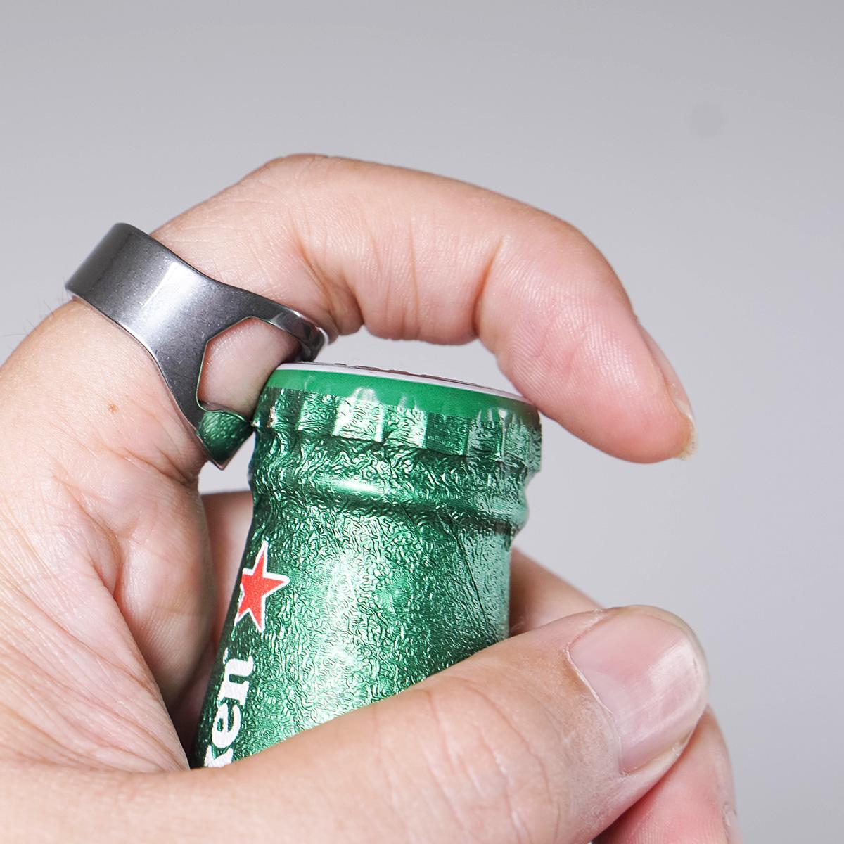 Combo 3 món Thẻ đa năng, Xúc xắc ăn nhậu viên lớn 2.5 cm, Nhẫn khui bia