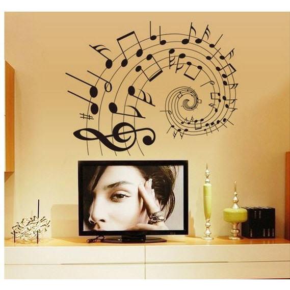 Decal dán tường Âm nhạc AmyShop
