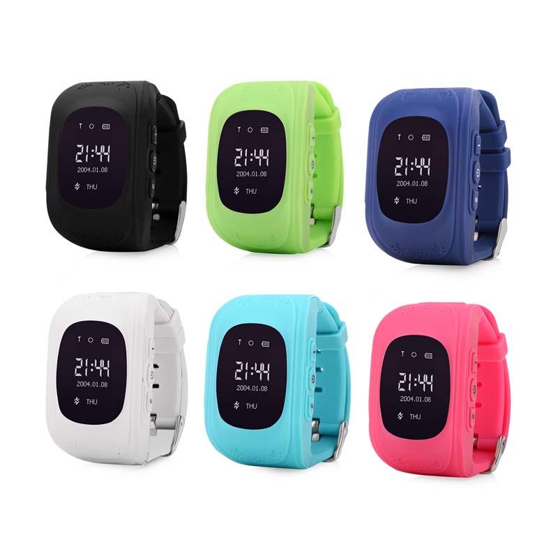 Đồng hồ định vị GPS Wonlex Q50 (Xanh dương) - Hàng Nhập Khẩu
