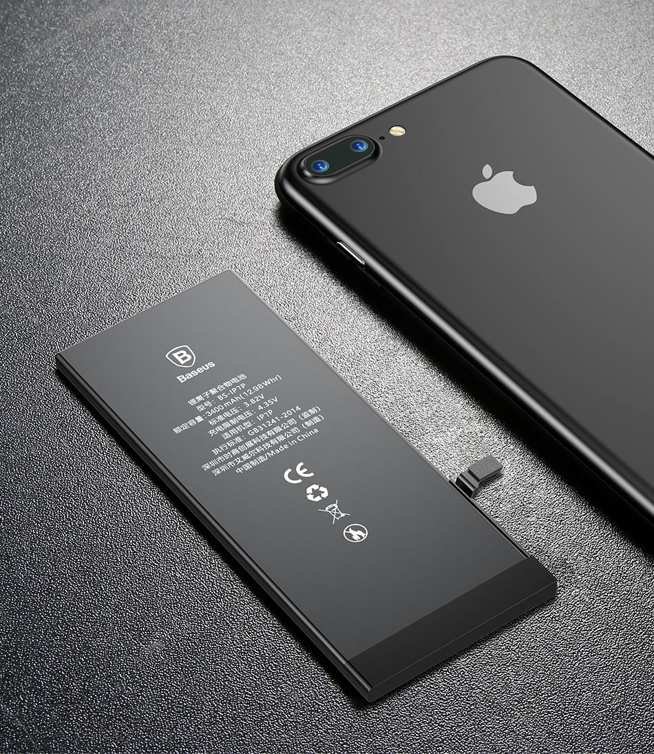 Pin thay thế cho iPhone 8 Plus Baseus Original Battery 3400mAh, ACCB-BIP8P - Hàng Chính Hãng