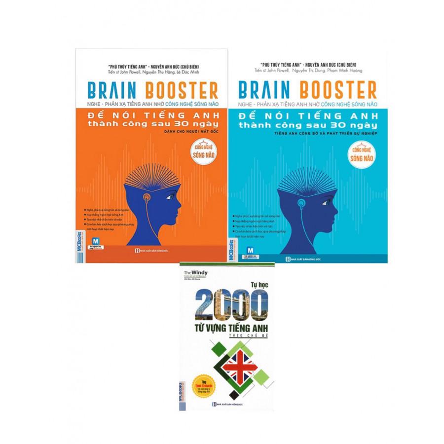 Combo 2 cuốn Brain Booster - Nghe Phản Xạ Tiếng Anh Bằng Công Nghệ Sóng Não  Tặng 2000 Từ Tiếng Anh Theo Chủ Đề - 23834889 , 7289597306662 , 62_24069998 , 588000 , Combo-2-cuon-Brain-Booster-Nghe-Phan-Xa-Tieng-Anh-Bang-Cong-Nghe-Song-Nao-Tang-2000-Tu-Tieng-Anh-Theo-Chu-De-62_24069998 , tiki.vn , Combo 2 cuốn Brain Booster - Nghe Phản Xạ Tiếng Anh Bằng Công Nghệ