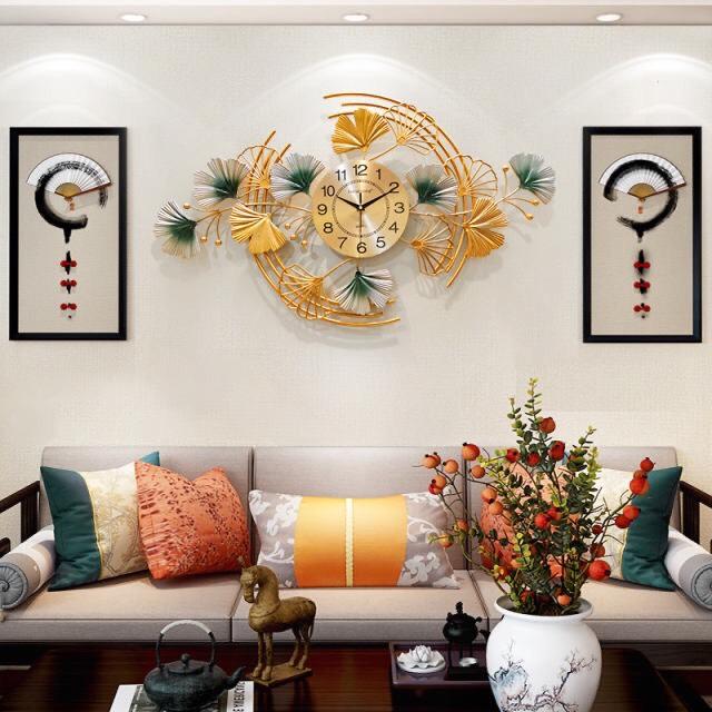 Đồng hồ treo tường ngang vàng