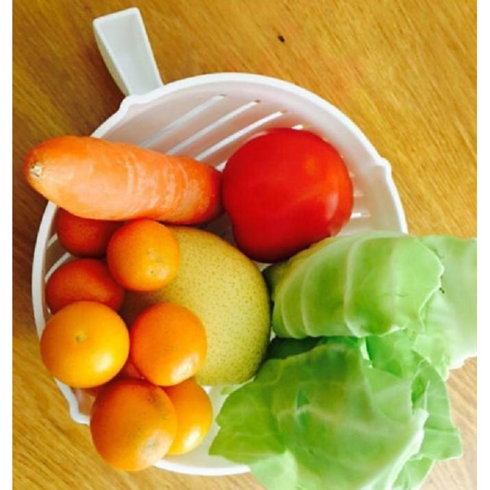 Rổ đựng salad trái cây 2 in 1 (tặng kèm 1 sản phẩm ngẫu nhiên)