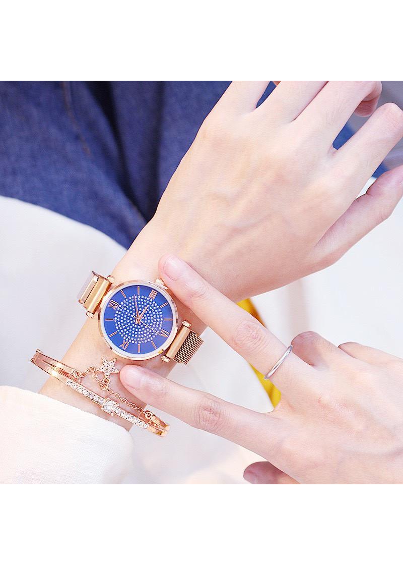 Đồng hồ thời trang nữ Zotime dây lưới nam châm siêu đẹp ZO88