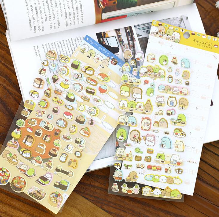 Bộ 2 tấm Sticker trang trí Kawaii (trang trí nhật ký, sổ kế hoạch) - Giao mẫu ngẫu nhiên