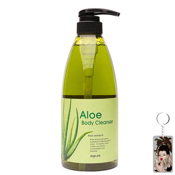 Sữa tắm tinh chất lô hội Welcos Aloe Body Cleanser 740ml + Móc khóa